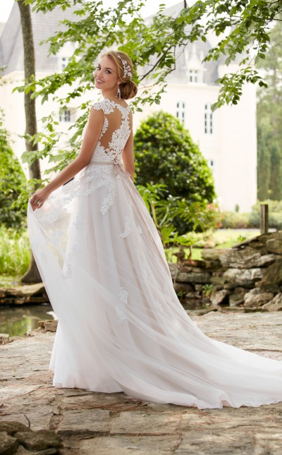Read More A Picture Taken Outside Of The Blush And Lace Stella York Dress In Style 6391