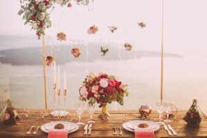 An image of an outdoor table setting created for a wedding in autumn.